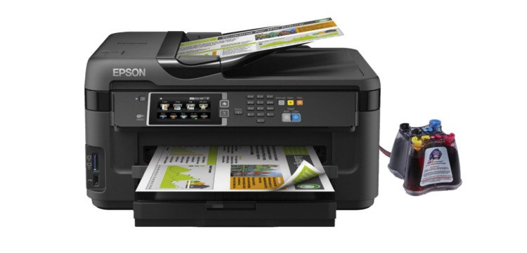 МФУ Epson WorkForce WF-7610DWF с СНПЧ  drthumbonly